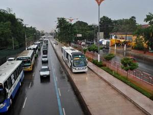 Em Belém, ônibus do BRT terá faixas exclusivas nas principais avenidas da cidade (Foto: Divulgação/Comus)
