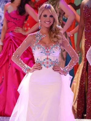 Sancler Frantz durante a final do Miss World 2013 (Foto: Leonardo Rodrigues/Miss Mundo Brasil/Divulgação)
