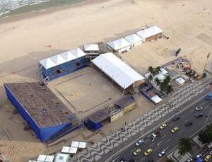 Quadra central em Copacabana: principal teste do vôlei de praia rumo ao Rio 2016 (Foto: Dovulgação/CBV)