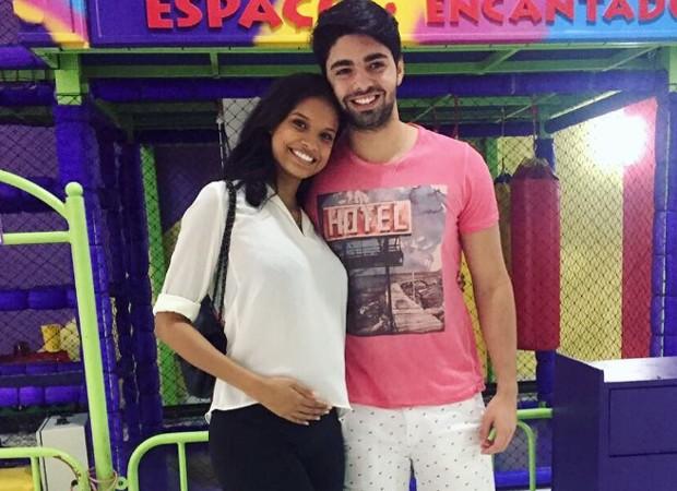Aline Dias e Rafael Cupello (Foto: Reprodução/Instagram)
