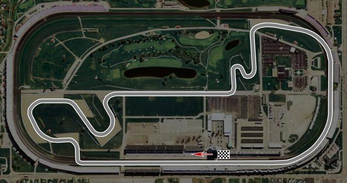 Traçado misto de Indianápolis, usado pela F1 de 2000 a 2007 (Foto: F1stats)