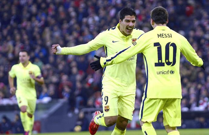 Luis Suárez gol, Athletic Bilbao x Barcelona (Foto: EFE)