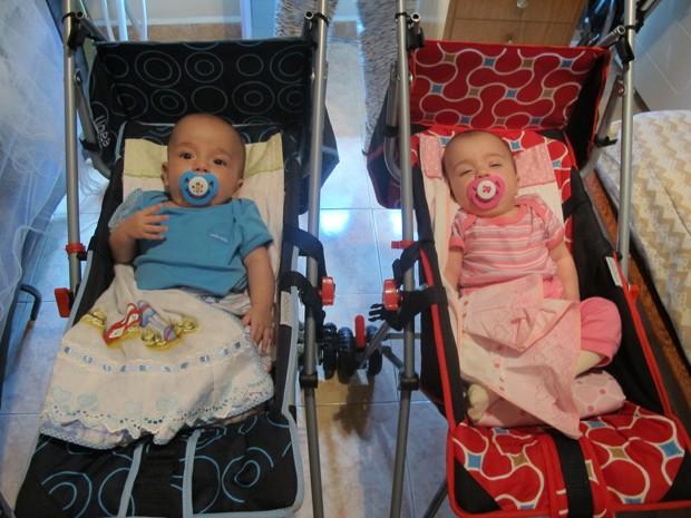 Roberto e Sofia completam seis meses em abril (Foto: Anna Gabriela Ribeiro / G1 Santos)