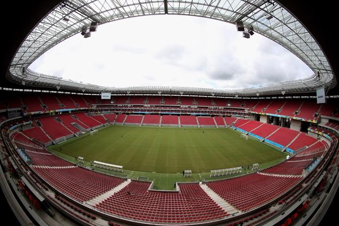 Arena Pernambuco recebe últimos detalhes para a Copa do Mundo (Foto: Agência Getty Images)