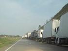 Greve dos caminhoneiros paralisa trechos da BR-262 em Igaratinga