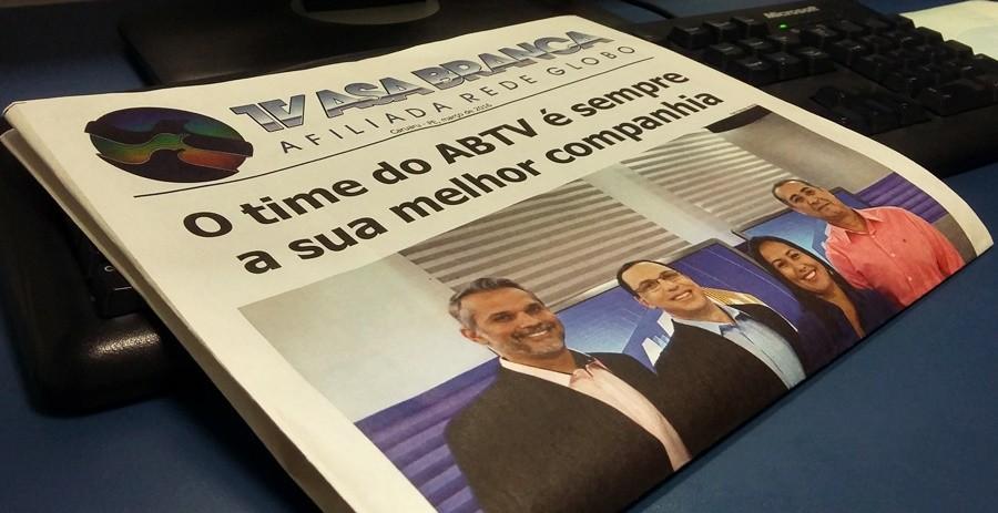TV Asa Branca agora tem um jornal institucional para os telespectadores (Foto: André Hilton/ TV Asa Branca)