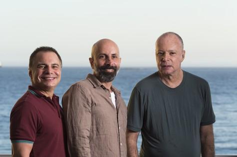 Ricardo Linhares, João Ximenes Braga e Gilberto Braga (Foto: Daniela Dacorso)