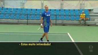 Time de Ouro da Globo assiste a treino de Marcelo Melo e Bruno Soares