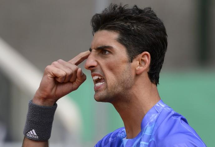 tênis Thomaz Bellucci na final em Genebra (Foto: AFP)