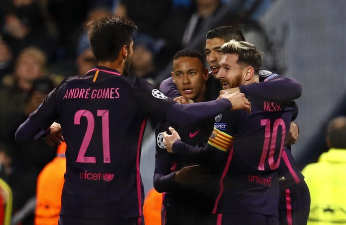 Messi; MSN; Manchester City x Barcelona (Foto: Reuters)