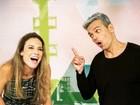 Monica Iozzi deseja boa sorte para Maíra Charken no 'Vídeo Show'