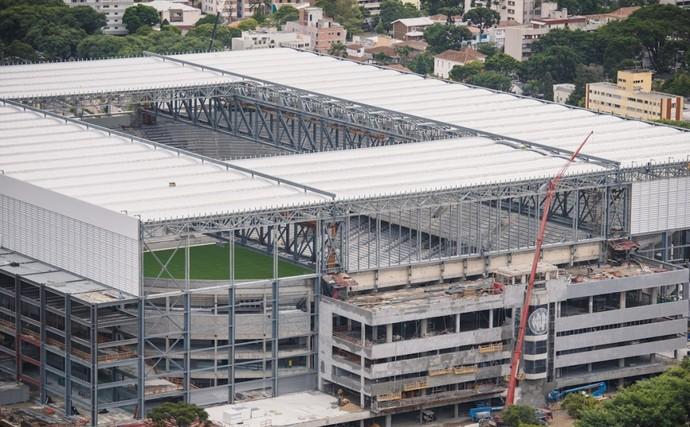 Visão aérea da Arena da Baixada, estádio do Atlético-PR (Foto: Site oficial do Atlético-PR/Alexandre Carnieri/Studio Gaea)