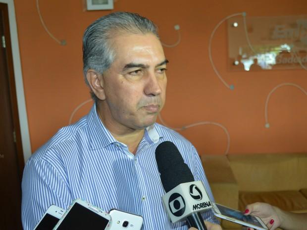 Governador Reinaldo Azambuja assinou declaração de interesses para tornar MS um estado carbono neutro (Foto: Anderson Viegas/G1 MS)