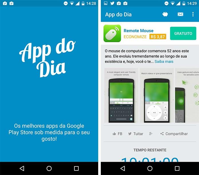 App do Dia é uma das opções para obter apps pagos de forma gratuita. (Foto: Reprodução/Alessandro Junior)