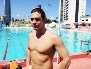 Nadador paraibano Kaio Márcio será um dos atletas presentes (Foto: Lucas Barros / Globoesporte.com/pb)