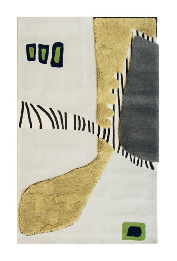 De náilon e em produção semi-artesanal, o tapete Praças do Brasil, de Gustavo Jansen para a By Kamy (Foto: Divulgação)