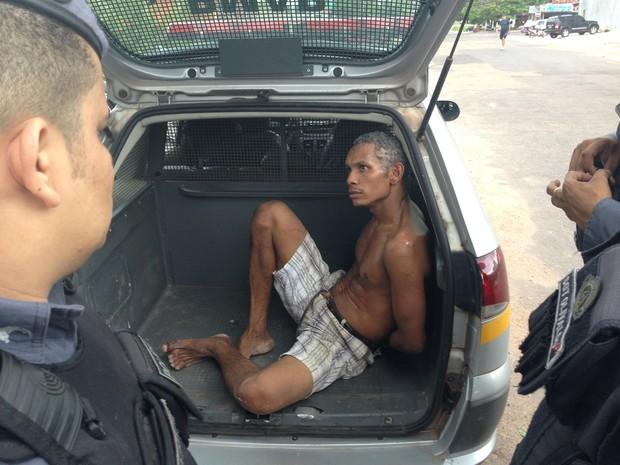 Fabrício Rogério da Costa, 31 anos, é suspeito de roubar a própria casa em Macapá (Foto: John Pacheco/G1)