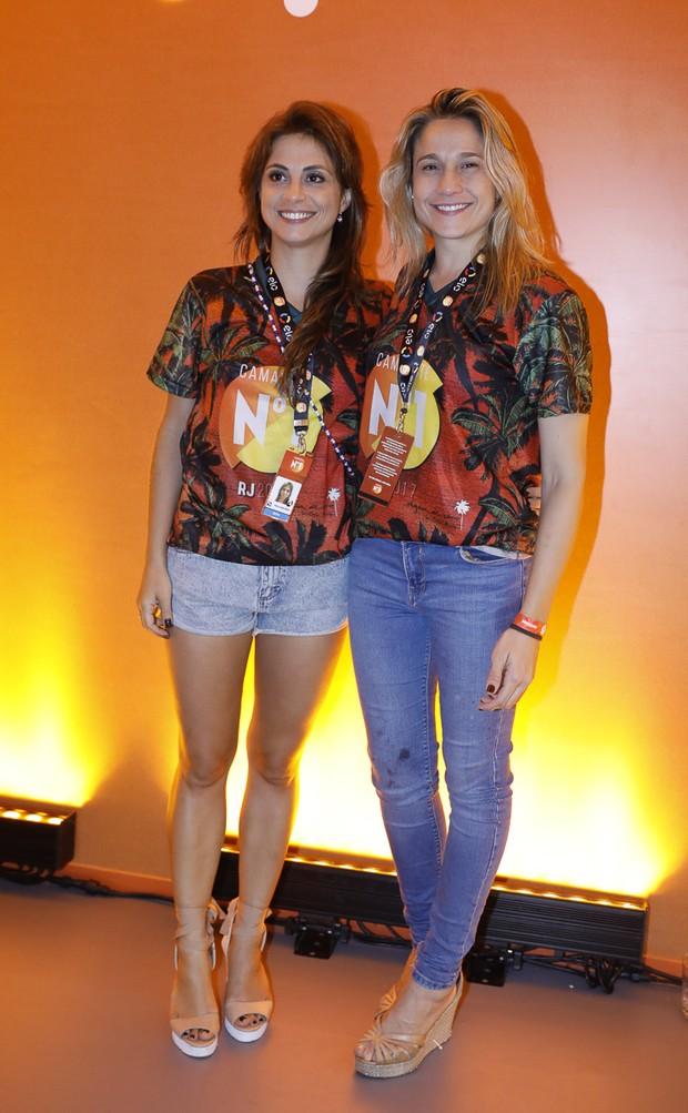 Fernanda Gentil e Priscila (Foto: Divulgação/CamaroteN1)
