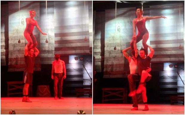 Mariana Ximenes, Letcia Colin e Bianca Salgueiro relatam suas experincias com exerccios acrobticos e ldicos  (Foto: Reproduo / Instagram)