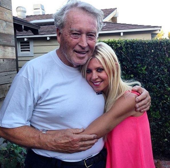 Tara Reid e o pai, Thomas Reid (Foto: Reprodução)