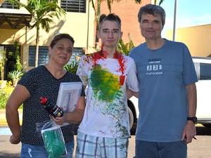 Afonso Henrique Piacentini Garcia aceitou o 'trote' (Foto: Kalinka Bacacicci/G1)