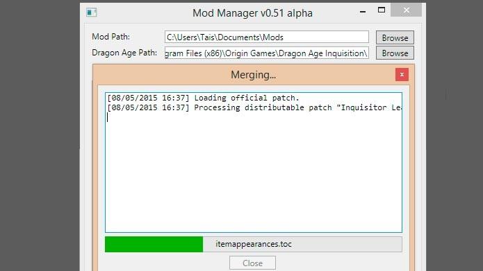 Clique em Merge para instalar os mods no jogo (Foto: Reprodução/Tais Carvalho)