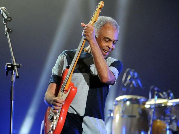 Gil subiu ao palco às 20h ao som de 'Realce. Após a apresentação do baiano, será a vez de Stevie Wonder (Foto: Alexandre Durão/ G1)