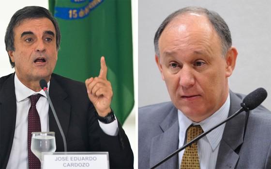 O ministro da Justiça, José Eduardo Cardozo, e o secretário de Direitos Humanos, Pepe Vargas (Foto: Antonio Cruz/Abr e Wilson Dias/ABr)