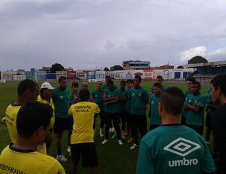 Castanhal treino desta segunda-feira, no Estádio Modelão (Foto: Diego Furtado/Ascom Castanhal)