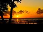 Internauta fotografa nascer do sol no rio Amazonas visto da orla de Macapá