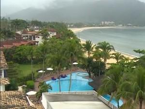 Hotel no litoral norte de SP. (Foto: Reprodução/TV Vanguarda)