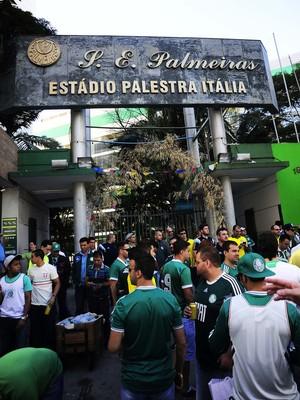 Palmeiras x São Paulo torcida (Foto: Marcos Ribolli)