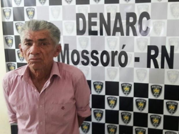 Antônio Fernandes dos Santos, de 66 anos, foi capturado em Mossoró na manhã de segunda-feira (28)  (Foto: Polícia Civil/Divulgação)