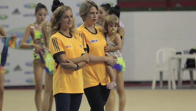 Russa Ekaterina integra comissão técnica comandada pela ex-ginasta Camila Ferezin (Foto: Osmar Rios)