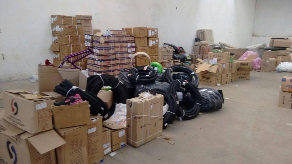 Produtos foram recuperados em Perdigão (Foto: Polícia Civil/Divulgação)