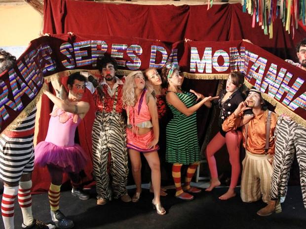 Trupe Grande Seres da Montanha resgata clássicos da música infantil e marchinhas (Foto: Moisés Bruno / Divulgação)