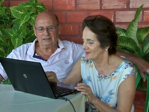 Maria Luiza reencontrou Zenir após achar o ex-cunhado em uma rede social (Foto: Reprodução/TVCA)