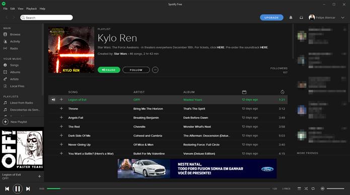 Ouça a playlist no Spotify (Foto: Felipe Alencar/TechTudo)