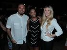 Ex-BBBs Aline e Fernando vão juntos a festa no Rio