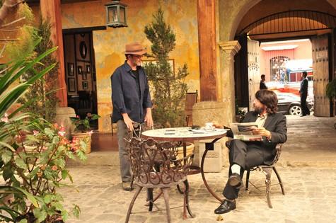 Duque (Jean Pierre Noher) e Dom Rafael (Foto: TV Globo/ João Miguel Júnior)