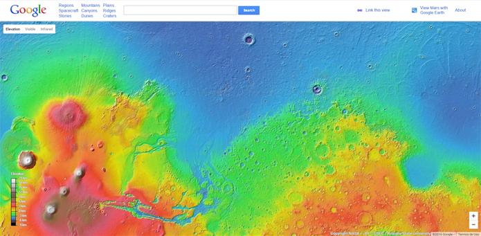 Mars permite que curiosos conheçam em detalhes a superfície marciana (Foto: Reprodução/Filipe Garrett)