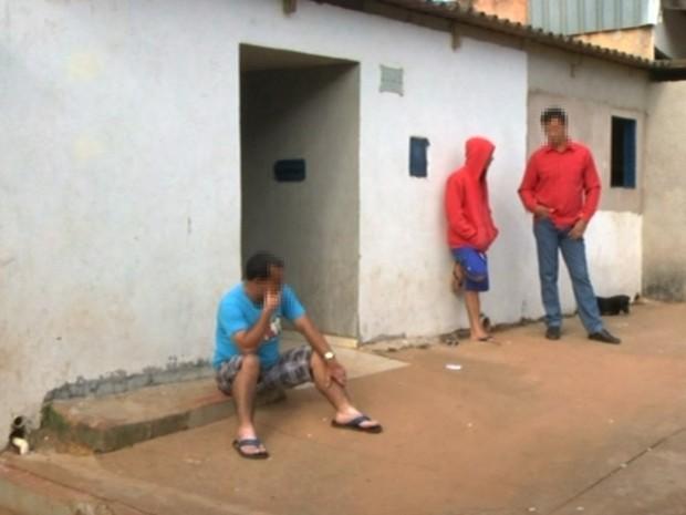 Menina morreu com um tiro no tórax, em Luziânia, em Goiás (Foto: Reprodução/TV Anhanguera)