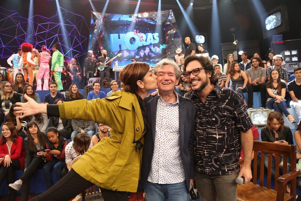 Casadevall participa do 'Altas Horas' com Lúcio Mauro Filho (Foto: Carol Caminha/Gshow)