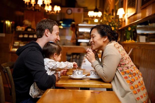 Mark Zuckerberg, a filha e a esposa, Priscilla Chan (Foto: Reprodução/Instagram)