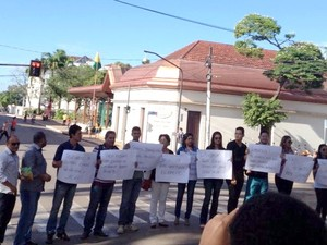 Manifestação Jornalistas (Foto: Nayanne Santana / Arquivo Pessoal)