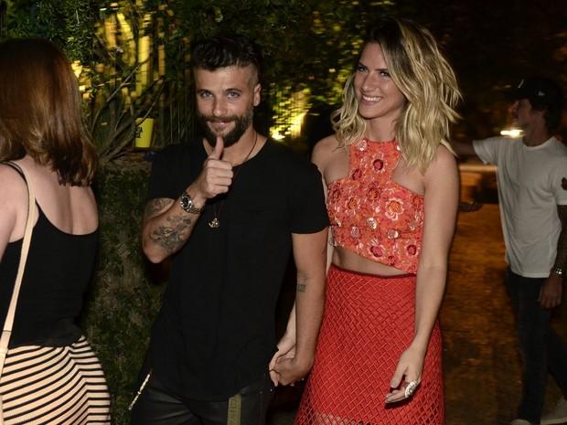 Bruno Gagliasso e Giovanna Ewbank em festa na Zona Sul do Rio (Foto: Roberto Teixeira/ EGO)