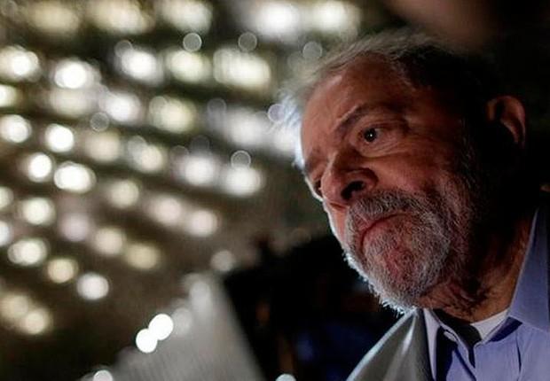 O ex-presidente Luiz Inácio Lula da Silva comparece ao Congresso (Foto: Ueslei Marcelino/Reuters)
