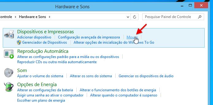 Abra as configurações do mouse (Foto: Reprodução/Helito Bijora)