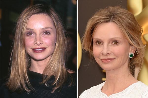 Calista Flockhart há 16 anos atrás e atualmente, com 50 anos de idade (Foto: Getty Images)