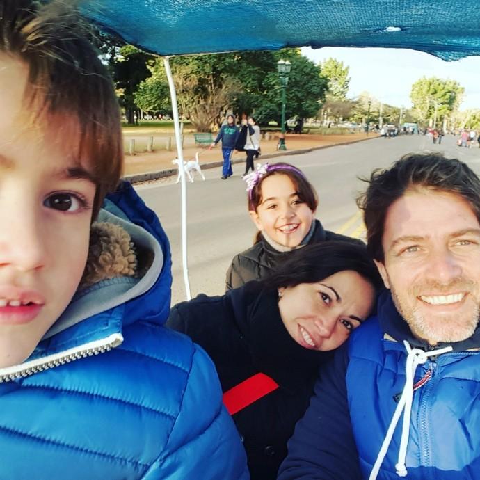 Pablo Bellini com a família (Foto: Arquivo pessoal)